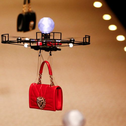 Dolce & Gabbana is using drones to model its handbags