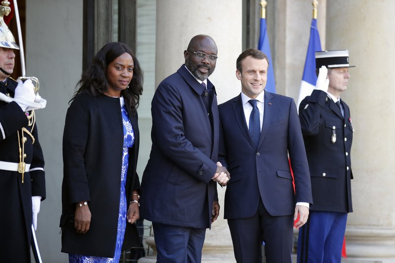 Liberia's new president pays visit to France