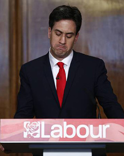 Ed  Miliband's Obama-inspired rhetoric didn't play in the UK   Not convinced … Ed miliband with David  Axelrod, former aide to President  Barack Obama