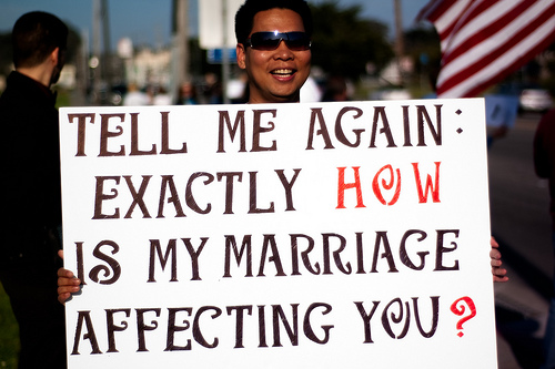Denigration of gay rights point-blank hypocritical and  condescending