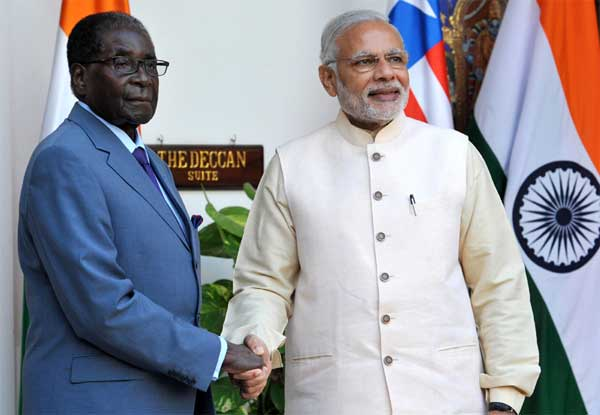 Mugabe: The odd  man out in India