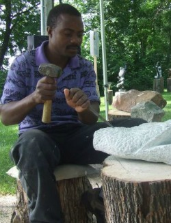 Sculptor takes Zim stone art to Canada