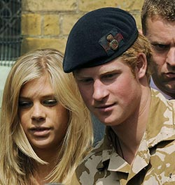 UK royals 'unhappy' with Harry's Zim ex-girlfriend