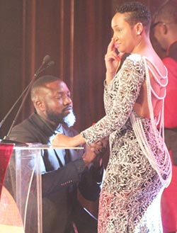 Elikem  proposes to Pokello live on TV