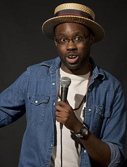 Comedian  defies un-American name and sceptical parents
