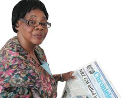 The veteran scribe who won't back down  Lifetime Achievement Award winner … Edna Machirori and journalist Maria Shriver attend the International Women's Media Foundation's 2013 Courage in Journalism Awards in California