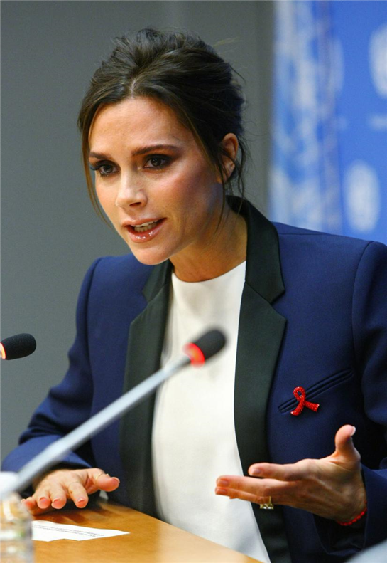 Victoria Beckham  becomes goodwill ambassador for the UN's Aids campaign