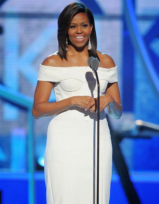 Michelle Obama declares 'Black Girls Rock!'  Black Girls Rock … US First  Lady Michelle Obama (left) on Saturday