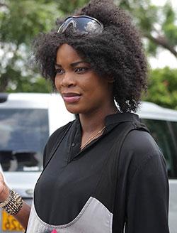 Financial adviser crowned Miss Zimbabwe  Winning at second attempt … Miss World Zimbabwe Emily Katanga Kachote (centre)