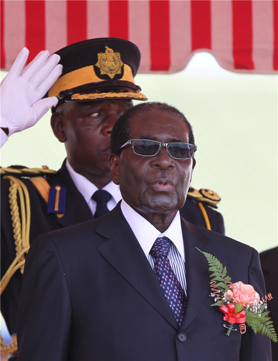 Pictures: Mugabe at Morris Depot