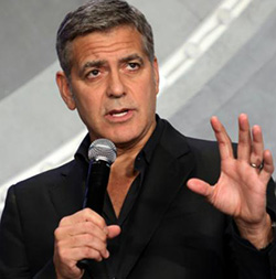 George Clooney hopeful of  tomorrow's world