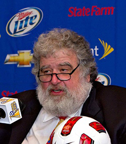 Chuck  Blazer: America's 'Mr Ten Percent' who cheated soccer  Larger than life character … Chuck Blazer with FIFA's outgoing president Sepp Blatter