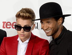 Bieber and Usher sued for $10m over copyright