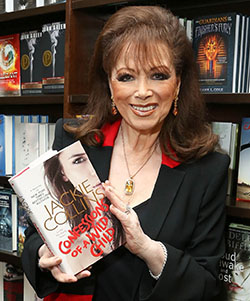 Novelist Jackie  Collins dies from breast cancer