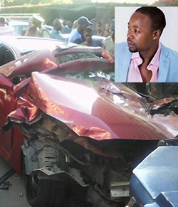 Urban groover Stunner stuns shoppers with car  crash in central Harare