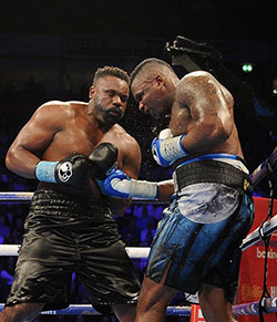 Dillian Whyte defeats Dereck Chisora in thrilling heavyweight contest  The crowd went from booing Whyte and Chisora's entrance to roaring them out of the ring