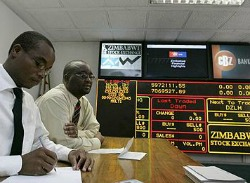 Trade slows on Zimbabwe's stock market