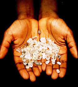Diamond exports fell 34 pct in 2014, official