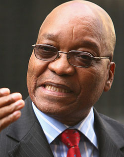 Zuma says not at war with South Africa's finance ministry