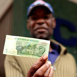 Cash shortages – the Zimbabwe c/bank and passing the buck