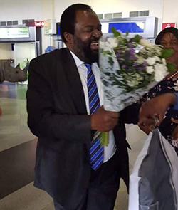 Businessman Makamba back home after years in exile