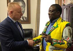 Russian tycoon visits Victoria Falls