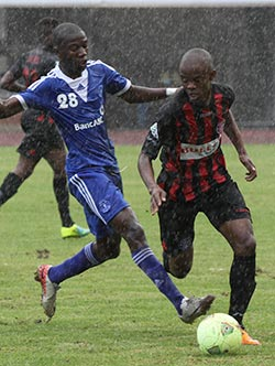 Dynamos brave pouring rain to beat Botswana side  Mutual respect … Mochudi Center Chiefs coach shakes hands with Dynamos' Calisto Pasuwa