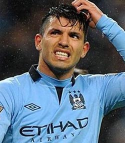Aguero to mess City's Barcelona tie