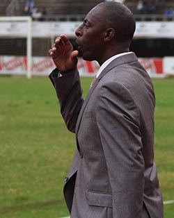 Struggling Harare City crash again  Pressure mounting … Harare City coach Bigboy Mawiwi during the loss to Dynamos