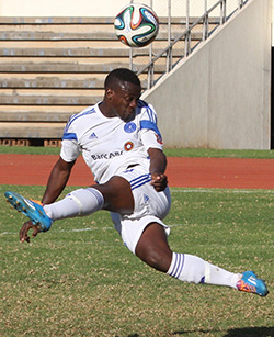 Dodgy penalty earns Dynamos three points  Determined … Ocean Mushure battles for possession with FC Platinum's Mitchelle Katsvairo
