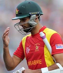 Raza century sets up huge Zimbabwe win  Huge win … Sikandar Raza and Hamilton Masakadza thwarted the Afghanistan bowlers