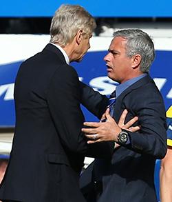 Wenger,  Mourinho unrepentant over bust-up