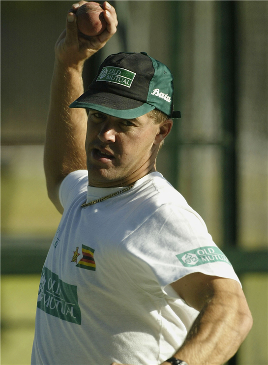 Streak feels like Lampard playing against Chelsea  We've been working on how we want to bowl at the Zimbabweans … Heath Streak (centre)