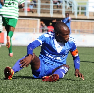 Dynamos no country  for old men, Murape told  Time up … Murape Murape (right) celebrates a goal with a colleague last season