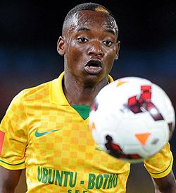 French giants Lille keen on Zimbabwe's Billiat  Attracting interest in France … Zimbabwe international striker Khama  Billiat (right)