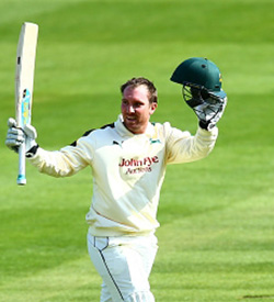 Brendan  Taylor scores a century on opening day of the County Championship season for  Nottinghamshire