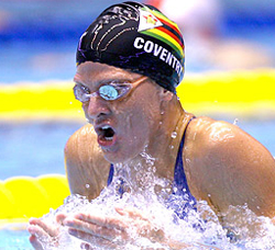 Two-time Olympic gold medallist Kirsty Coventry captures 200 back title