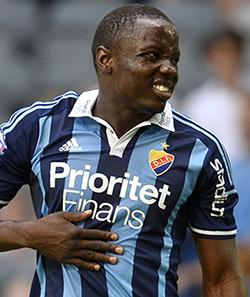 Mushekwi  scores brace, shoots to the top goal scorer's chart  Goal delight … Nyasha Mushekwi celebrates his goal with teammates on Wednesday