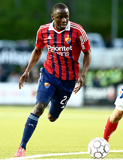 Mushekwi scores third brace to lift his Swedish team to the top of the  log