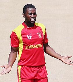 Zimbabwe skipper Chigumbura suspended for Pakistan ODIs  Down in Lahore … Hamilton Masakadza and Elton Chigumbura in Pakistan on Tuesday