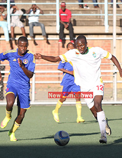 Dynamos  stars join Young Warriors camp ahead of Swaziland do or die  A marked man … Tino Kadewere tries to work his way past Swaziland players on Sunday