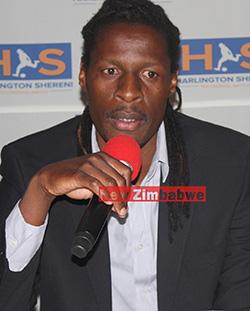 European  stars set for Shereni testimonial match  Organising testimonial game … Harlington Shereni (2nd from left) addresses the media in Harare