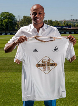 Ghana striker Ayew joins Swansea on four year deal