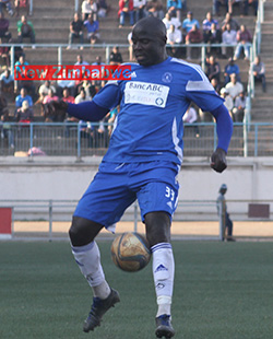Dynamos crush  WhaWha as CAPS edge Hwange  Biggest win of the season … Roderick Mutuma in action for Dynamos on Wednesday