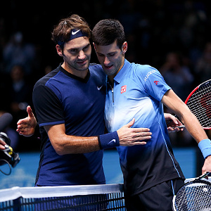 Novak Djokovic and Roger Federer in racae to be first $100m man