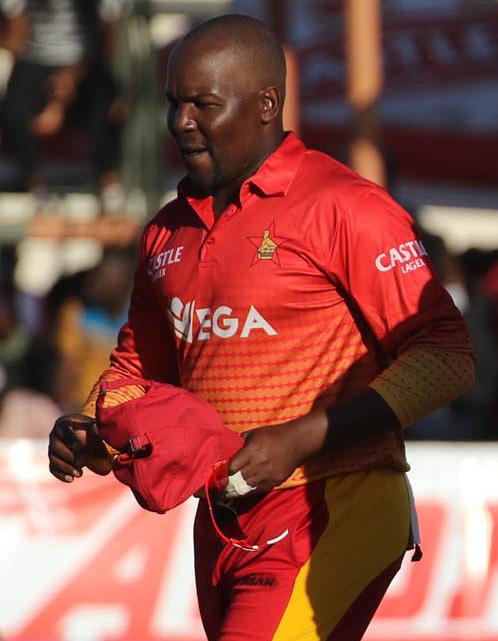 Zimbabwe stun Bangladesh in last T20 to draw series  Series level … Tendai Chisoro and Neville Madziva celebrate a wicket