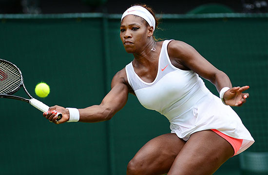 Serena sails into fourth round with Russian rout