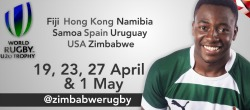 Hlongwani says he hopes the 9th  Edition of World Rugby Under-20 tournament will boost Zim's image