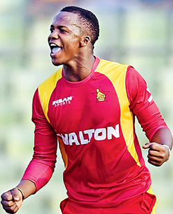 Jongwe ready for India after head knock  Zimbabwe allrounder Luke Jongwe was struck after delivering the ball