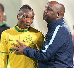 Sundowns  coach says he would let star player Khama leave to Europe